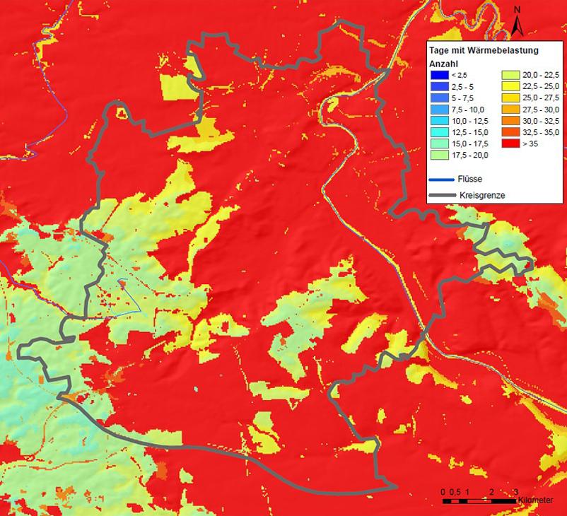 Beautiful Abb. 5/8b: Bioklima, Prognose Tage Mit Wärmebelastung 2071   2100,  Datenquelle: Klimaatlas Verband Region Stuttgart 2008